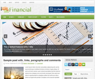 Financial Blogger Template
