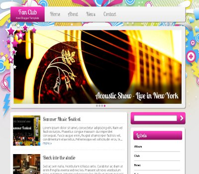 Template Blogger - Fan Club