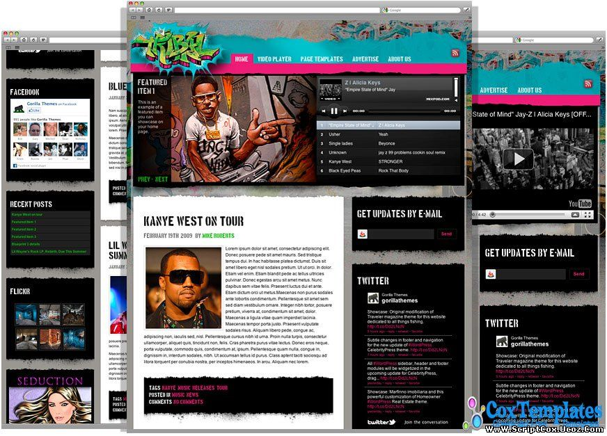 Tribal Music Themes - WordPress Themes