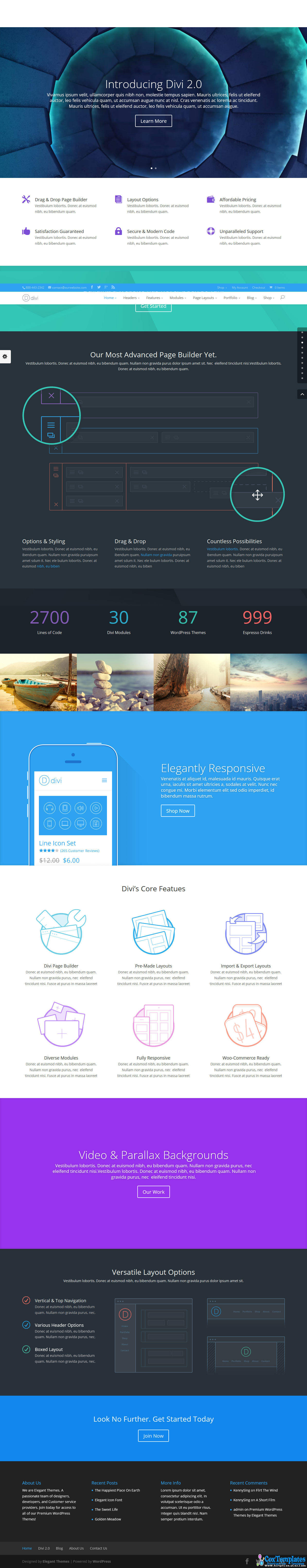 Divi 2.1.4 Responsive Wordpress Templates